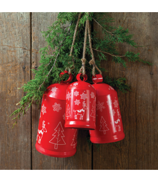 CTW Home Collection Red Cylinder Bells