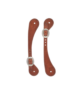 Weaver Mens Shaped Harness Leather Spur Straps