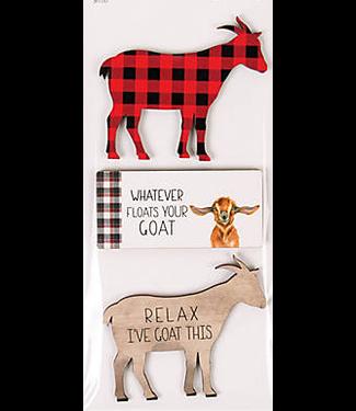 Wood Goat Magnet