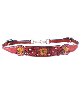 Showman Showman Hand Painted Sunflower Wither Strap