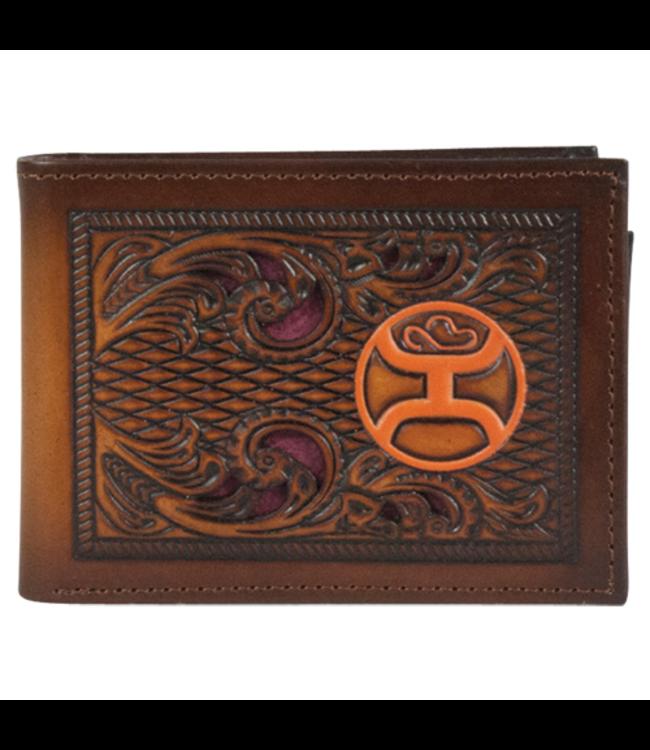 Hooey Hooey Bifold Wallet with Orange Logo