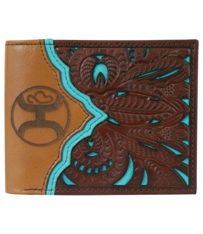 Hooey Hooey Signature Bifold Wallet Turquoise Cutout