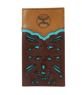 Hooey Hooey Signature Jr. Rodeo Wallet Turquoise Cutout