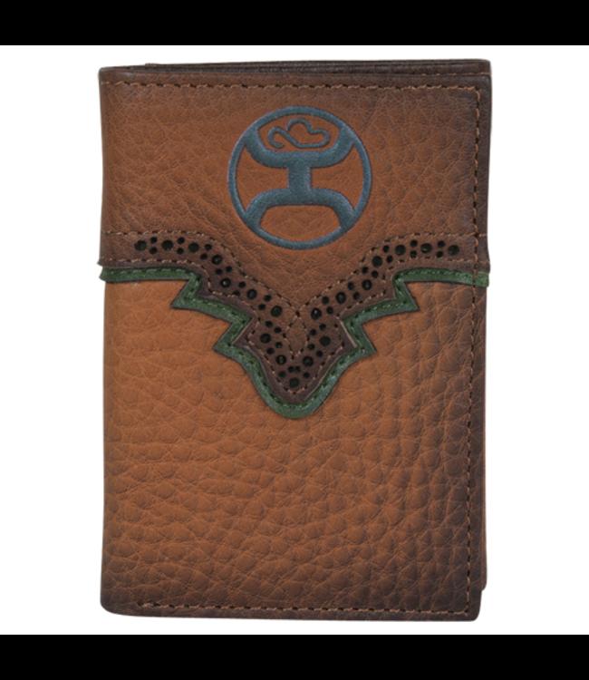 Hooey Hooey Trifold Wallet Russet & Green
