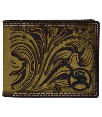 Hooey Roughy Signature Bifold Wallet Saddle Tan
