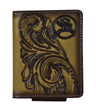 Hooey Roughy Signature Card Bifold Wallet Money Clip Saddle Tan