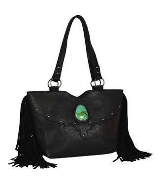 Justin Justin Small Tote Black with Suede Fringe