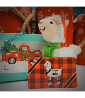 Beyond the Barn Llama Gift Card Bundle $30