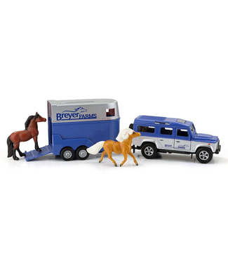 Breyer Land Rover® and Tag-A-Long Horse Trailer