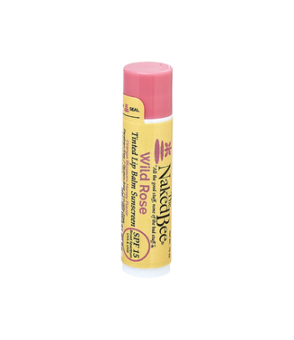 The Naked Bee SPF 15 Orange Blossom Honey Tinted Lip Balm in Wild Rose