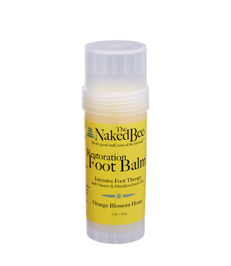 The Naked Bee Restoration Foot Balm Orange Blossom Honey