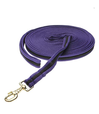 Kincade Two Tone Padded Lunging Rein Purple/Black 26'