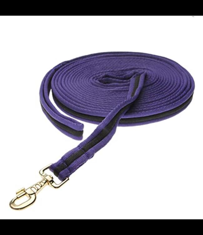 Kincade Two Tone Padded Lunging Rein Purple/Black 26'