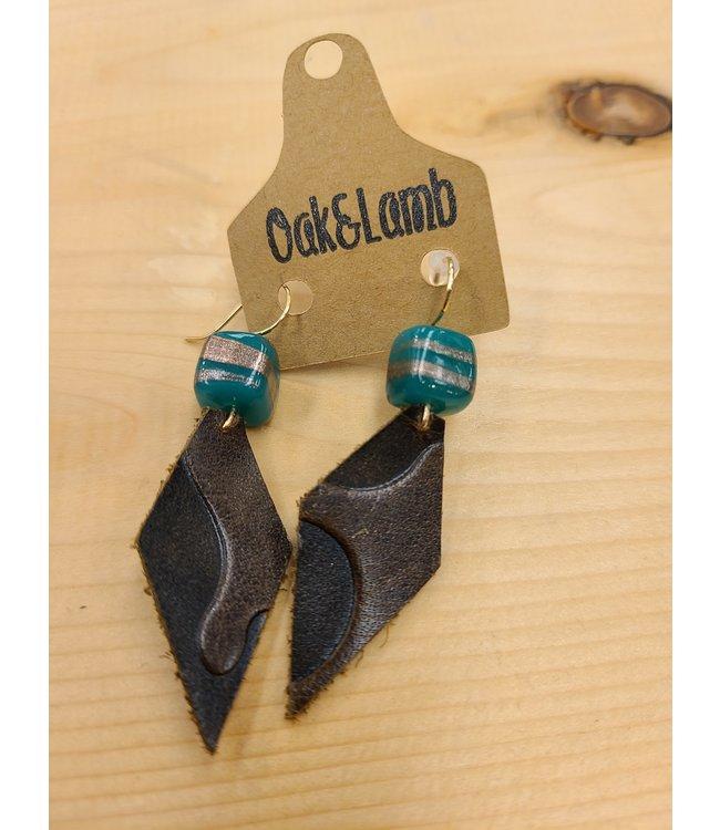 Oak&Lamb Leather and Bead Earings