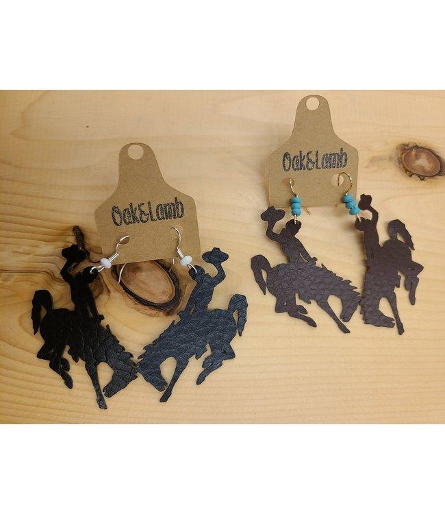 Oak&Lamb Bucking Bronc Earings - Assorted Colors