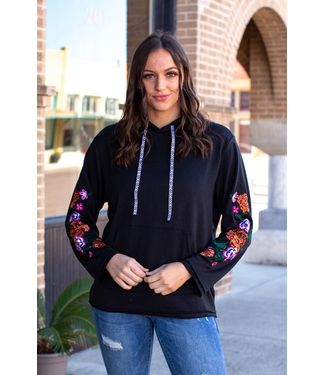 Lucky & Blessed Lightweight Floral Pullover