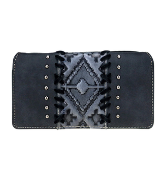 Montana West Trinity Ranch Embossed Collection Secretary Style Wallet