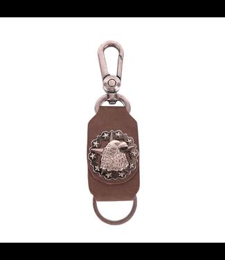 Montana West Leather Eagle Star Concho Key Chain