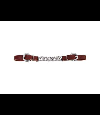 "Weaver Latigo Leather 4-1/2"" Flat Link Chain Curb Strap"