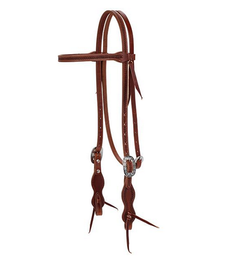 Weaver Synergy Harvest Wheat Headstall with Floral Designer Hardware