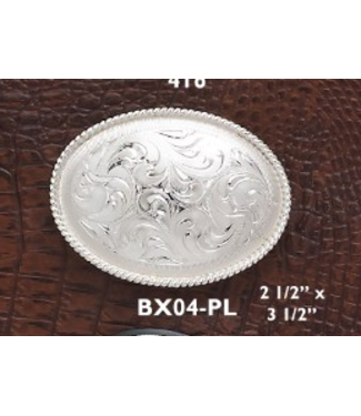 Small Oval Engraved Belt Buckle
