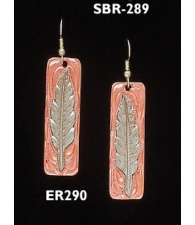 Feather Copper/Silver Earrings