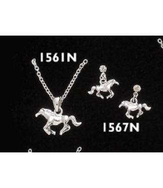 Running Horse Necklace and Earring Set