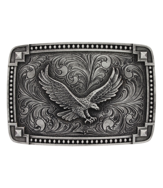 Montana Silversmith Antiqued Tied at the Corners Buckle with Soaring Eagle