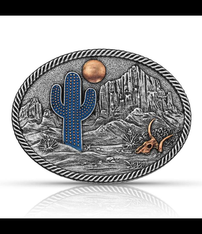 Montana Silversmith Desert Moon Cactus Attitude Buckle