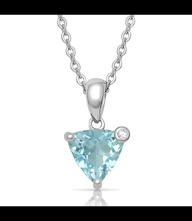 Montana Silversmith Azure Trillion Starlight Necklace