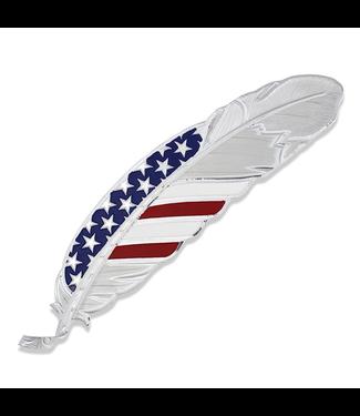 Montana Silversmith Stars & Stripes USA Flag Hat Feather