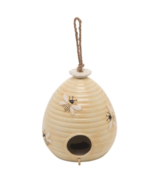 Transpac 3 in. Multicolor Spring Beehive Salt and Pepper Set (2 Pieces)
