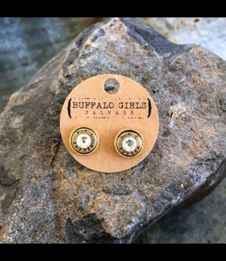 Buffalo Girls Salvage Bullet Stud Earrings