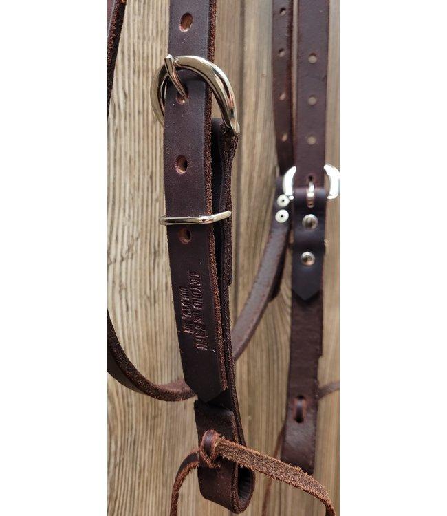 Beyond the Barn Handmade Leather Browband Headstall