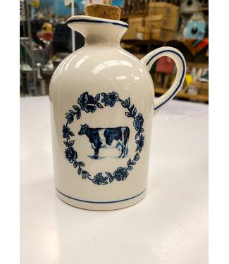 Ceramic Cow Jug with Cork