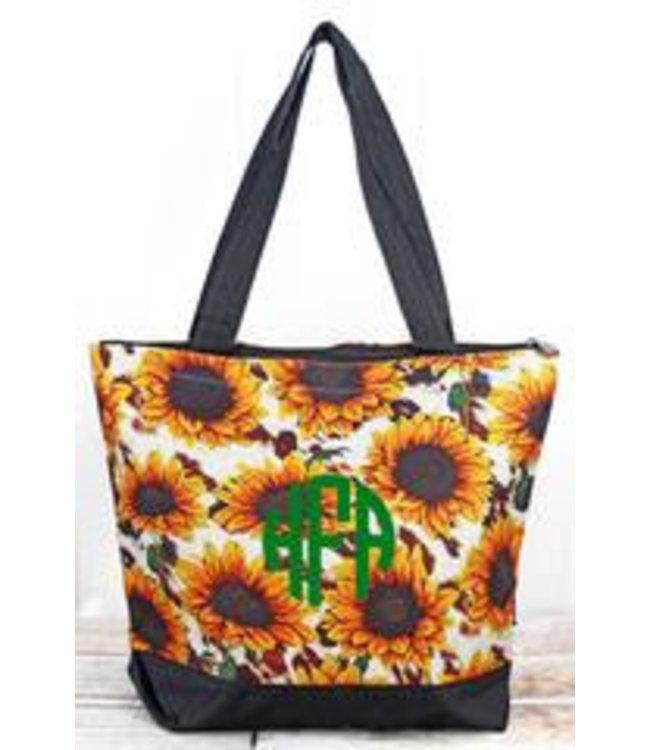 NGIL Sunflower Farm with Black Trim Tote Bag