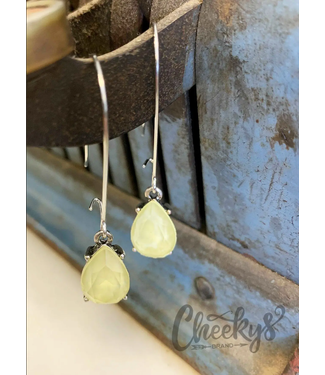 Cheeky's Boutique Sparkling In The Sun Yellow Earrings