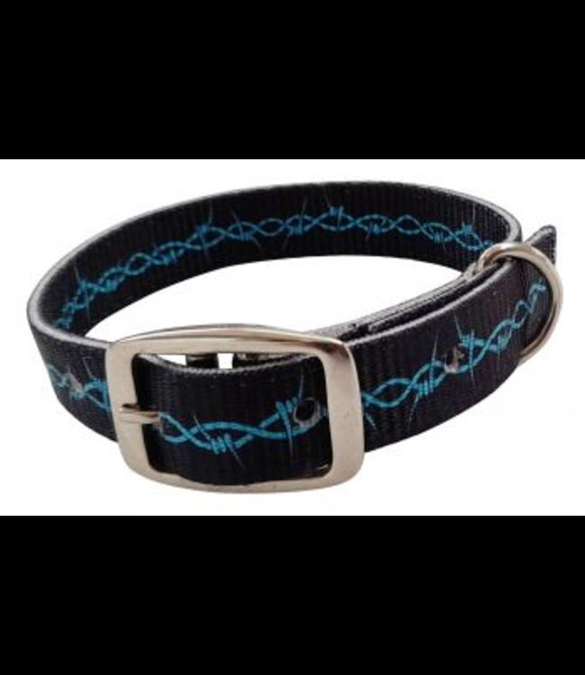 Barbwire Nylon Dog Collar