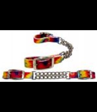 Showman Tye Dye Double End Curb Chain