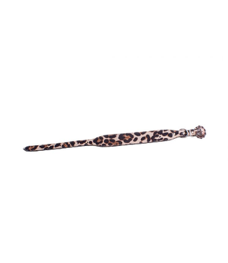 Showman Leopard Print Leather Dog Collar