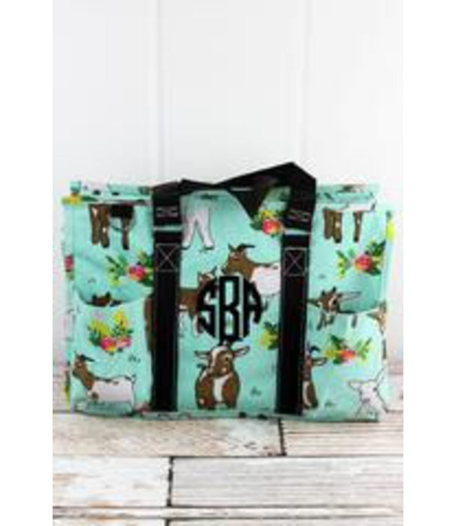 NGIL Giddy Goats Utility Tote with Black Trim