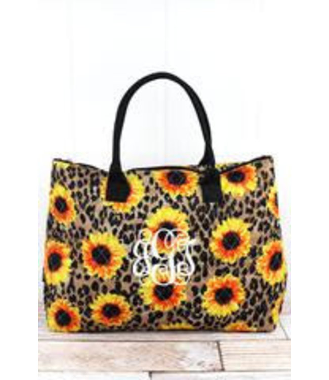NGIL Sunflower Leopard Quilted Large Shoulder Tote