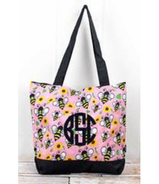 NGIL Busy Bee with Black Trim Tote Bag