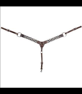 Cashel Grey Cheetah Beaded Breast Collar