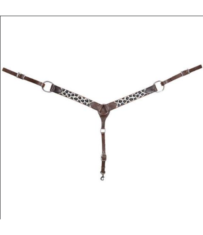 Cashel Grey Cheetah Beaded Breast Collar