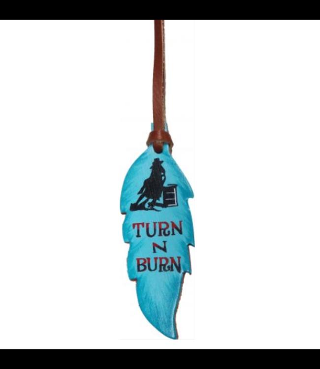 Turn N Burn Feather Saddle Charm