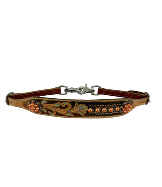 Showman Metallic Floral Painted Wither Strap