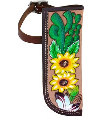 Showman Sunflower and Cactus Leather Flag Carrier