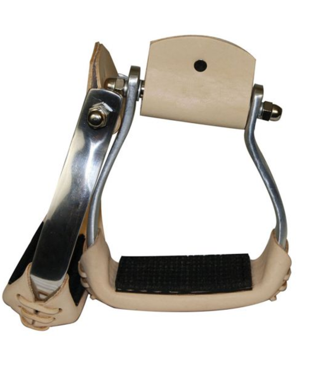 Showman Angled Aluminum Stirrups with Rubber Grip