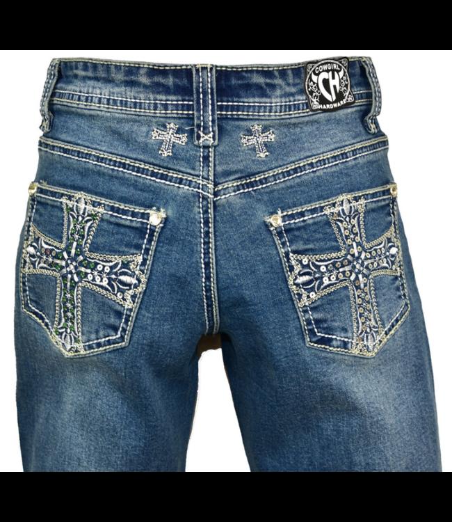 Cowboy Hardware Girl's Sequin Cross Jeans